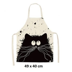 Gros chat noir 49 x 40 cm