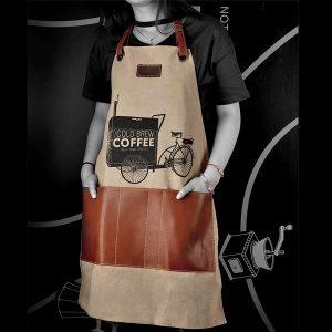 Tablier barista, livraison de café