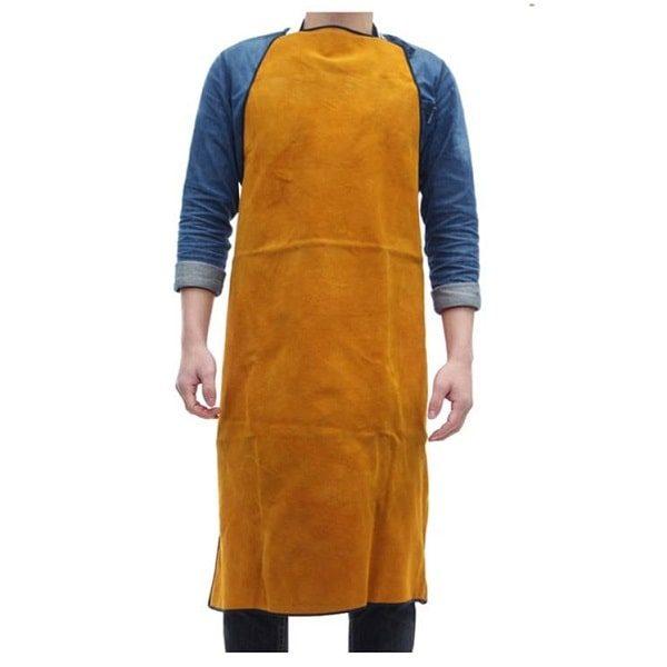 Tablier cuir forgeron, Jaune moutarde
