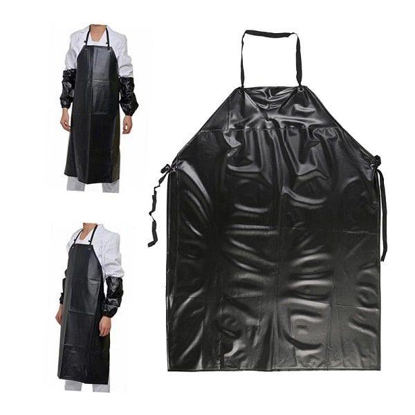 tablier de boucher noir