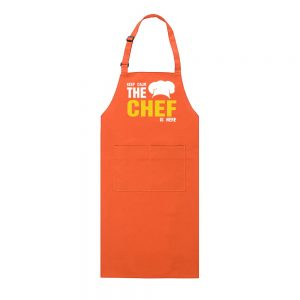 tablier chef orange