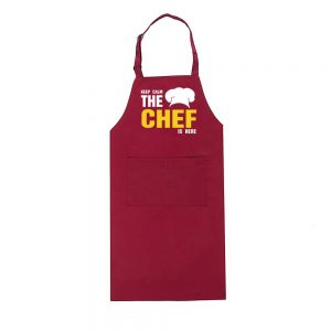 tablier chef rouge