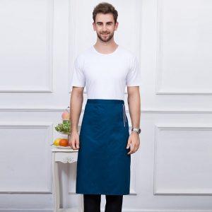 tablier-long-serveur-bleu-a-trait